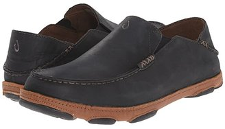 OluKai Moloa (Black) Men's Slip on Shoes