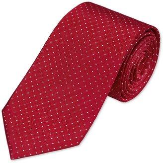 Charles Tyrwhitt Red & white pin dot woven tie