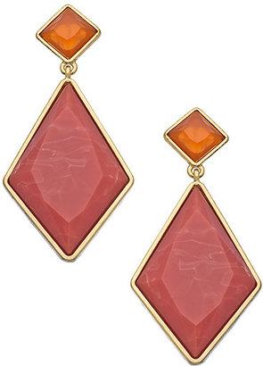 Roberta Chiarella Gold And Terracotta Diamond Duet Earrings