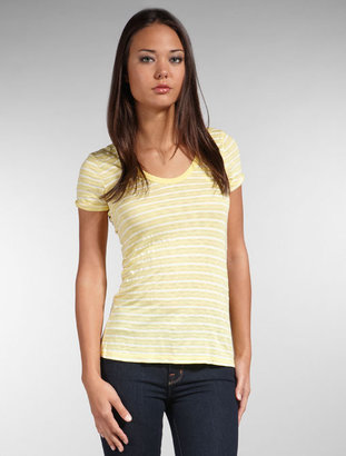 Splendid Mini Stripe Slub Jersey Pocket Tee