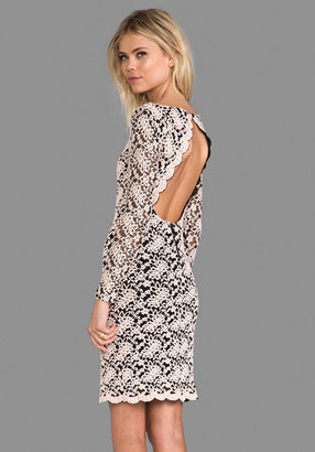 Alice + Olivia Khloe Open Keyhole Back Dress