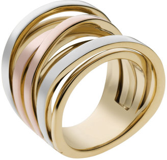 Michael Kors Large Interwoven Ring, Tri-Color