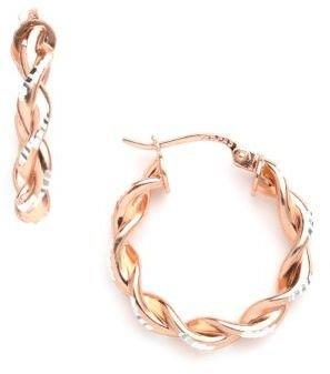 Lord & Taylor 18k Gold Over Sterling Silver Hoop Earrings