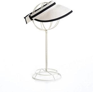 Calvin Klein Straw Visor With Contrast Trim