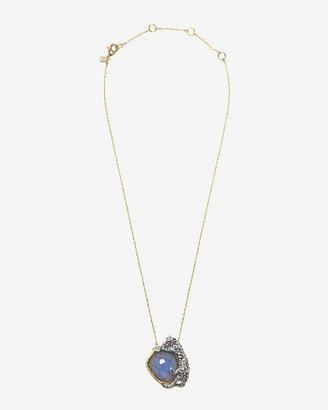 Alexis Bittar Siyabona Gold Cerulean Panther Necklace