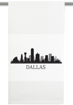 Mariasch Studios Dallas Skyline Kitchen Towel