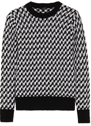 Joseph Two-tone cable-knit wool sweater