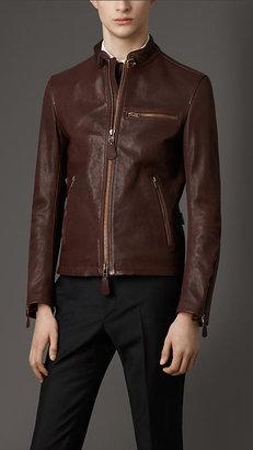 Burberry Buffalo Leather Racing Jacket