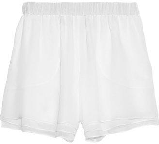 Prabal Gurung Layered silk-chiffon shorts