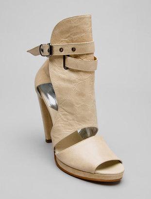 Tashkent Santia Peep Toe Leather Bootie