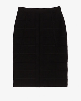 Herve Leger Detailed Bandage Skirt: Black