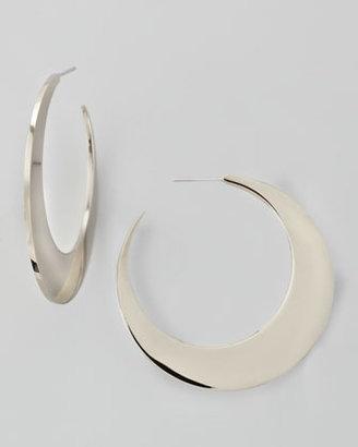 Rebecca Minkoff Silvertone Crescent Earrings