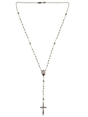 Dolce & Gabbana Silver Rosary Necklace