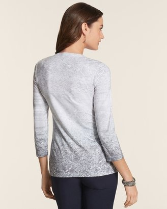 Chico's Zenergy Robbie Ombre Embellished Top