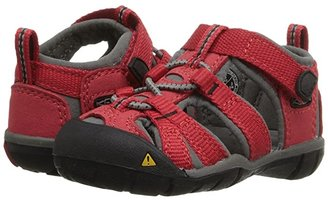 Keen Kids Seacamp II CNX (Toddler) (Racing Red/Gargoyle) Kids Shoes