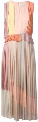 Victoria Beckham Victoria 'Pleat Midi Multi Roze' dress