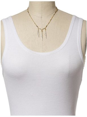 Sequin Three Pave Diamonds Necklace