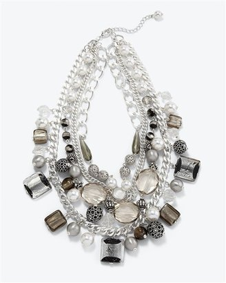 White House Multi-Row Ethnic Necklace