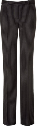 Michael Kors Black and Ivory Striped Pants