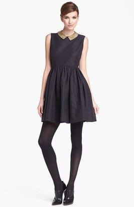 Kate Spade 'laurence' Cotton Blend Fit & Flare Minidress