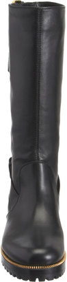 Sergio Rossi Double Buckle Strap Moto Boot