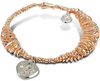 Orlando Orlandini Galaxy - Diamond Charm 18K Rose Gold Bracelet