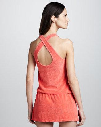 Splendid Terry Blouson Coverup Dress