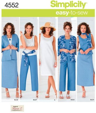 Simplicity Easy to Sew Casual Outfit Sewing Pattern, 4552