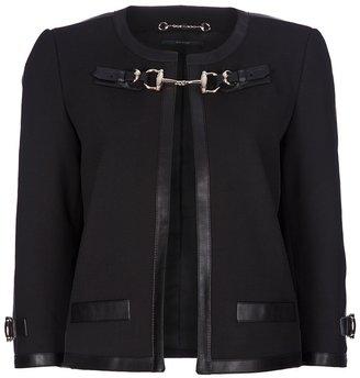 Gucci leather trim jacket