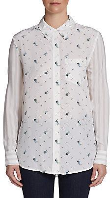 Equipment Reese Floral-Print Silk Shirt
