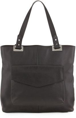 Rachel Zoe Abbey North-South Leather Tote Bag, Black