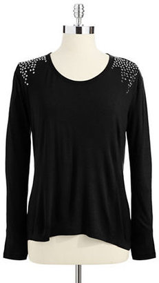 Vince Camuto TWO BY Jewel Accented Long Sleeved Shirt