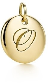 """Tiffany & Co. Notes Letter """"O"""" disc charm"""