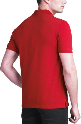 Burberry Modern-Fit Logo Polo, Military Red