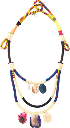 Proenza Schouler Double Rope Stone Necklace