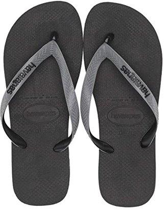 Havaianas Top Mix Flip Flops (Black/Steel Grey/Black) Men's Sandals
