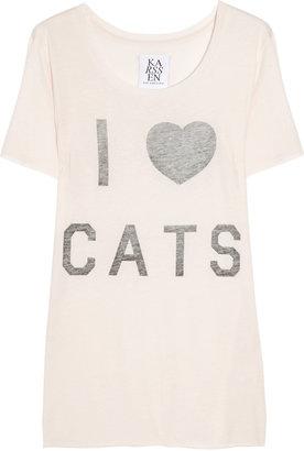 Zoe Karssen I Heart Cats cotton and modal-blend T-shirt
