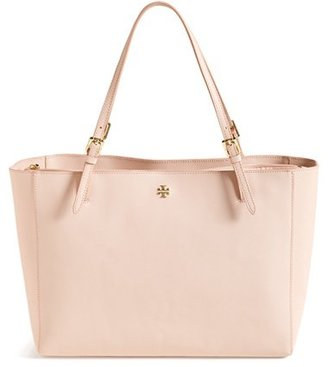 Tory Burch 'York' Buckle Tote - Ivory $295 thestylecure.com