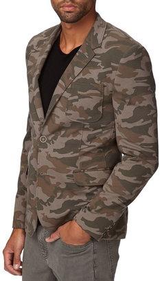 21men 21 MEN Knit Camo Blazer