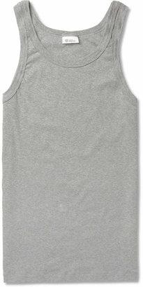 Schiesser Slim-Fit Stretch-Cotton Jersey Tank Top $70 thestylecure.com