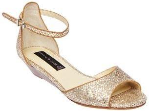 Steve Madden STEVEN BY Tippsy Metallic Wedge Sandals