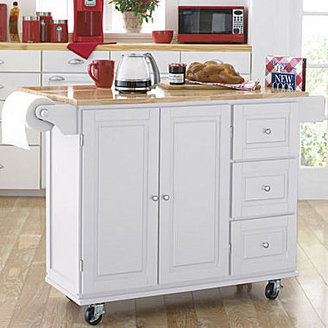 JCPenney Sundance Extendable Rolling Kitchen Cart with Towel Rack