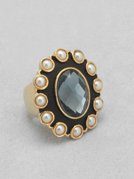 Arden B Faceted Stone Ring