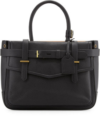 Reed Krakoff Boxer Pebbled Leather Tote Bag, Black