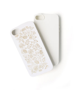 Rifle Paper Co. Golden Bouquet iPhone 5/5S White