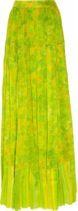Roberto Cavalli Printed cotton maxi skirt