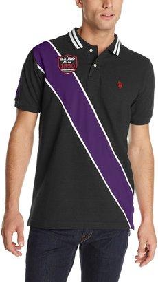 U.S. Polo Assn. Men's Diagonal Stripes Short Sleeve Pique