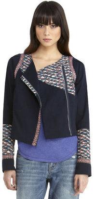 Rachel Roy Mix Media Twill Jacket