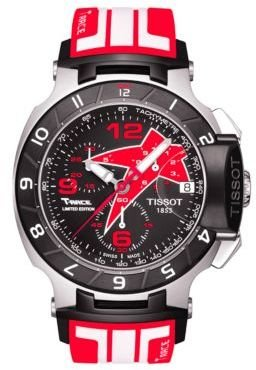 Tissot Men's T-Race Black Quartz Chronograph Rubber Strap Watch