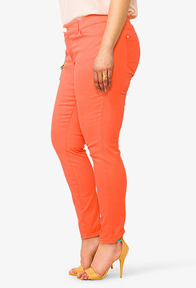 Forever 21 Lacquered Skinny Jeans